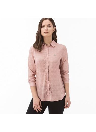 Lacoste Kadın Desenli Gömlek CF0901.01R Bordo